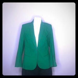 The Limited Exact Stretch Green Blazer Jacket